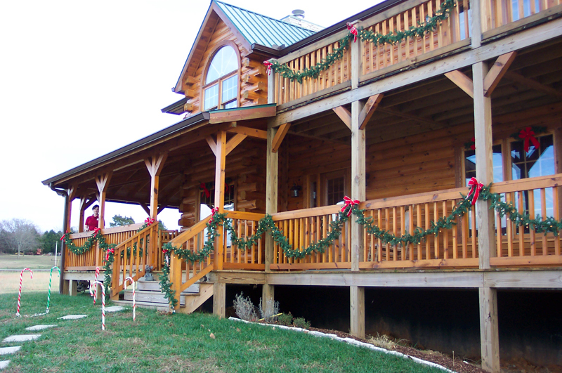 todd and kim hickey's log home in lascassas, tn